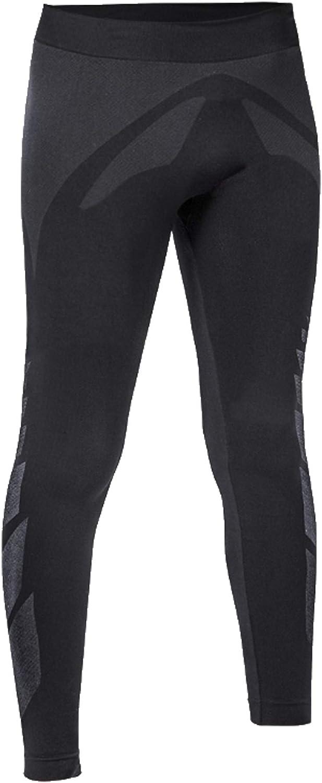 8-10 Anni Design Esclusivo Made in Italy Pantalone Termico Bambino Ragazzo Felpato Iron-IC Nero