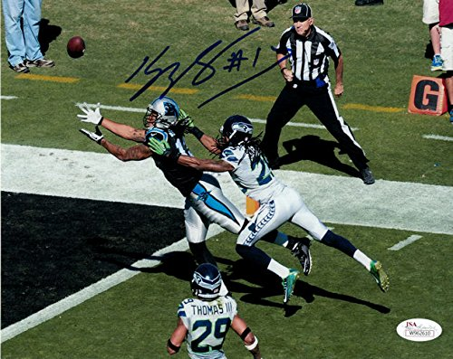 Kelvin Benjamin Autographed Carolina Panthers 8x10 photo JSA (vs Seahawks)