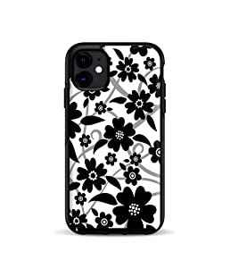 Skins for OtterBox Symmetry Case for iPhone 11 Skin Decal Vinyl Wrap - Decal Stickers Skins Cover - Black White Flower Print