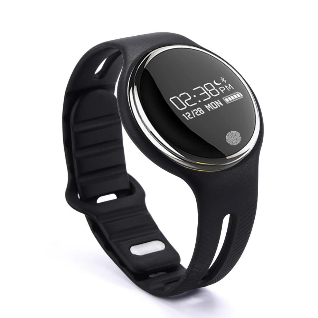 Lary intel IP67 Waterproof Bluetooth Smart Bracelet Watch Sport Healthy Pedometer Sleep Monitor (Black)