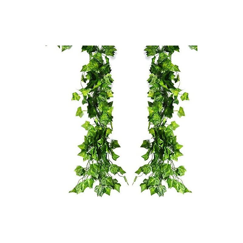 silk flower arrangements atpwonz 12 pack 80ft artificial ivy leaves greenery garland vine hanging fake foliage flowers for wedding party garden wall decoration
