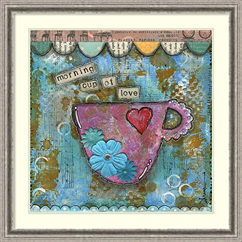 Framed Art Print 'Morning Cup of Love' by Denise Braun