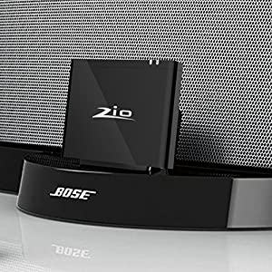 Audio Adapter /Audio Receiver Bluetooth 4.2 Wireless Converter Perfect for Bose Sounddock,JBL,PHILIPS Lightning Dock Speaker with 8 Pin Port For Any Bluetooth Devices-Black