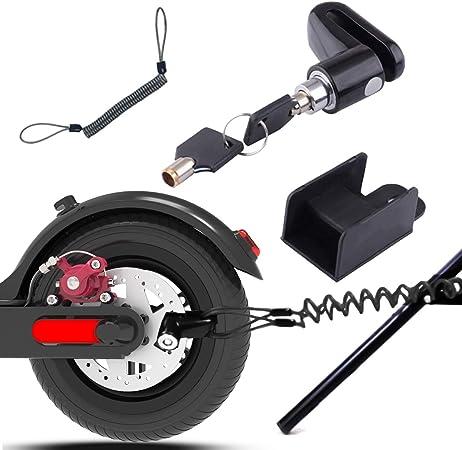 Lucchetto rosso Lucchetto per manubrio per moto Bloccaggio di sicurezza per frizione freno per scooter