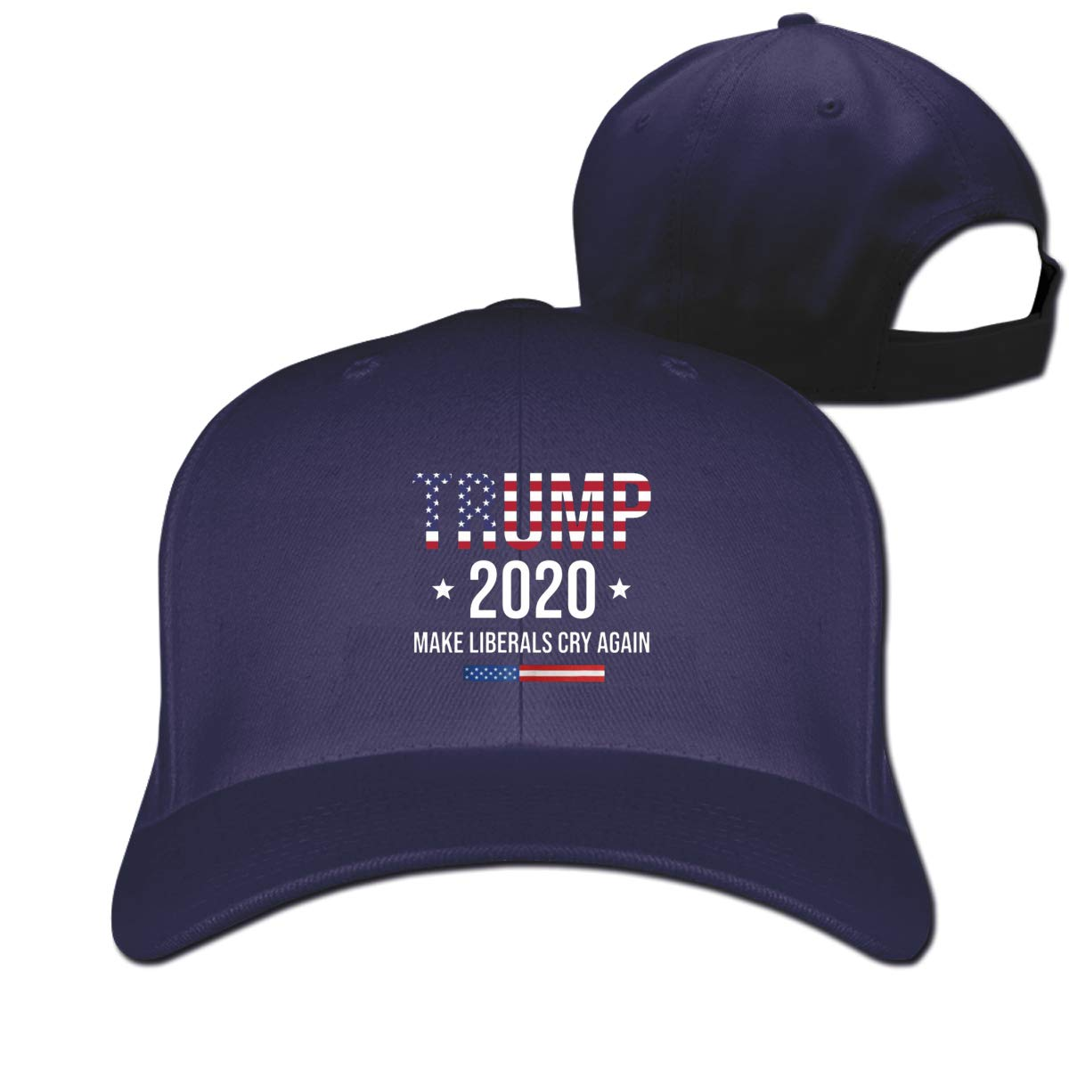 2020 Trump Make Liberals Cry Again Snapback Baseball Cap Sport Hats for Men and Womens Black