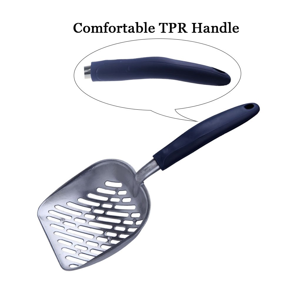 Cat Litter Scoop with Navy HandleGiant Pet Kitty Litter Scooper Size 13.58