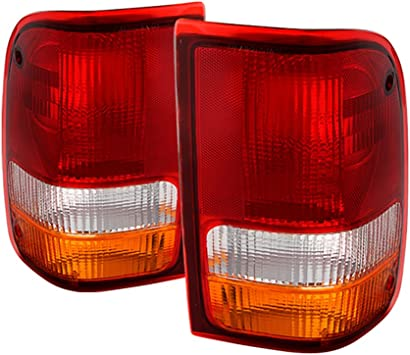 Tail Light Lens and Housing Compatible with 2000 Ford Ranger Driver Side