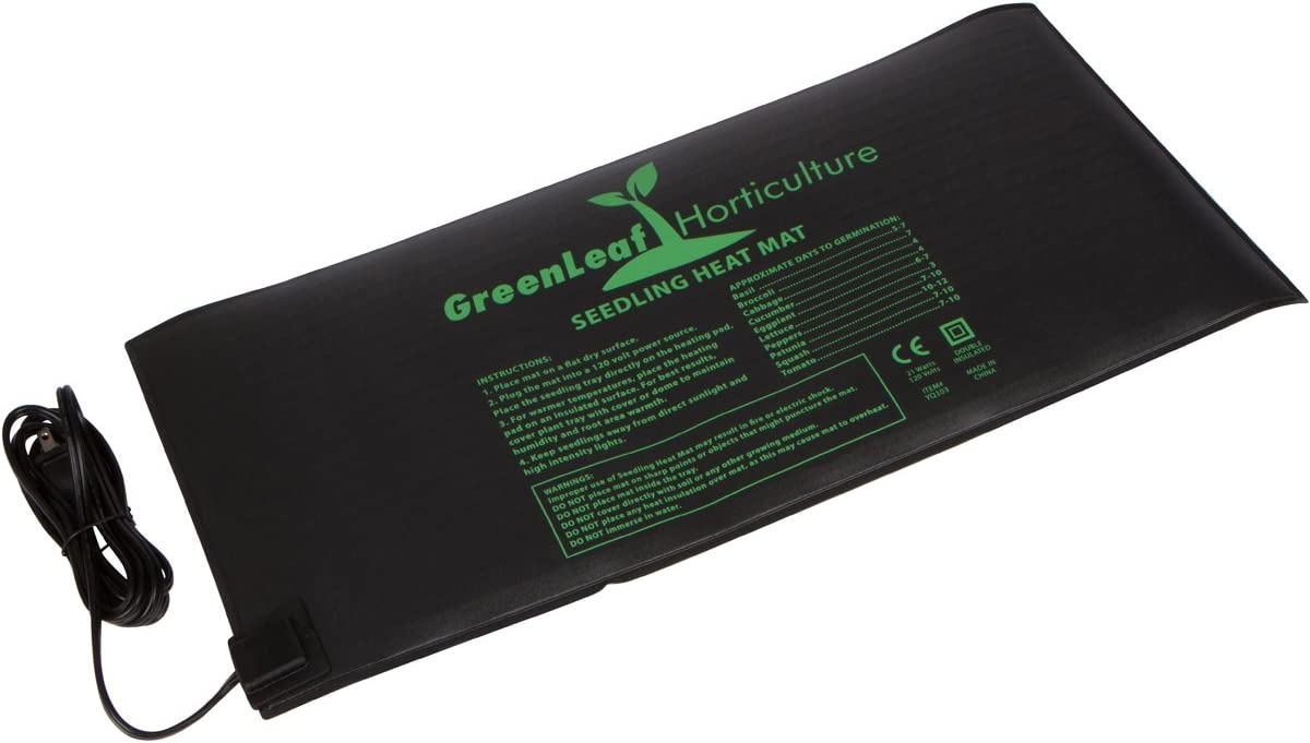 GreenLeaf Horticulture Waterproof Seedling Heat Mat 10 x20.75 Design For Use In Home Gardens