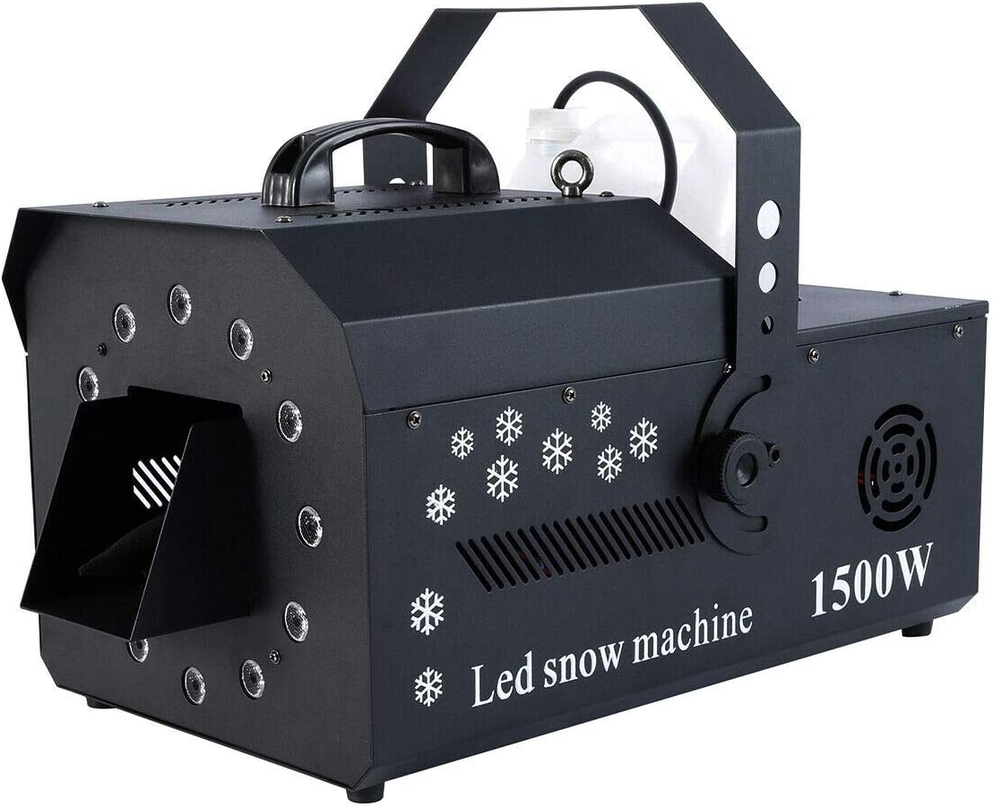 Snow Machine 1500w Wired Remote Control Stage Snowflake Maker Machine for Party Christmas