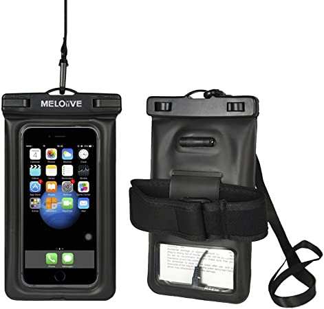 Meloive Funda Universal para teléfono Resistente al Agua, Estuche Flotante Transparente para celulares con cordón y muñequera Resistente y Conector de Audio para iPhone 8/8 Plus/X/7/,Galaxy S8/Note 8: Amazon.es: Deportes y aire