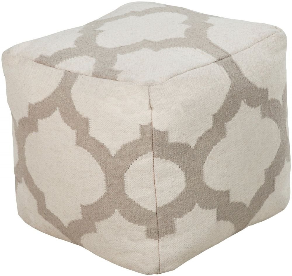 Surya Contemporary Square pouf/ottoman 18''x18''x18'' in Gray Color From Surya Poufs Collection