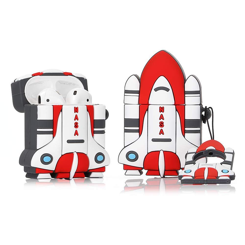ویکالا · خرید  اصل اورجینال · خرید از آمازون · LEWOTE Silicone Case Compatible for Apple Airpods 1&2 Funny Cover[Cool Design][Best Gift for Kids Boys Girls] (3D Rocket) wekala · ویکالا