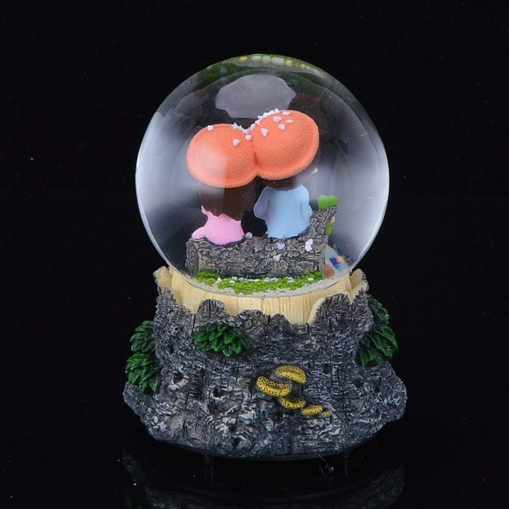 Bo/îte /à Musique Jour Automatique Vaporiser Flocon de Neige Valentines Electronic Music Box Eau Snow Ball Globe Couleur : 001, Size : 12.5X7.5X7.5cm