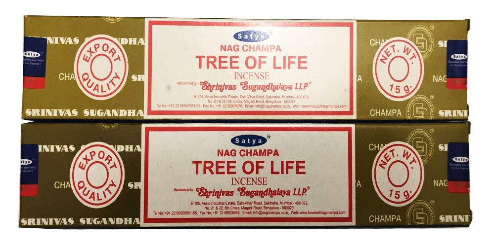 Satya Nag Champa – Tree of Life Incense Sticks – 2個のパック各15グラム B07CC93BFG