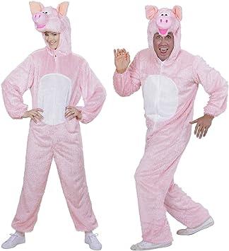 NET TOYS Disfraz de Cerdo Disfraz Acolchado Cerdo con máscara XL ...