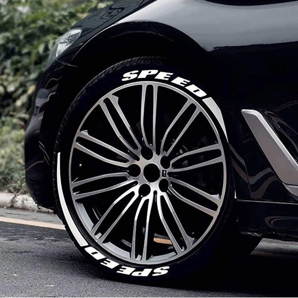 themesmith Car Tire Letter Stickers Personality Modified 3D Stereo Car Tire Stickers Tire Letter Decorative Stickers