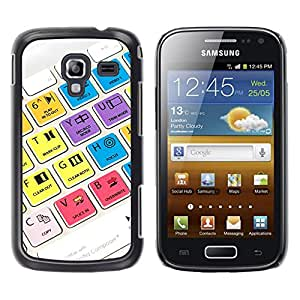 MOBMART Carcasa Funda Case Cover Armor Shell PARA Samsung Galaxy Ace 2 - Video Directional Keypads