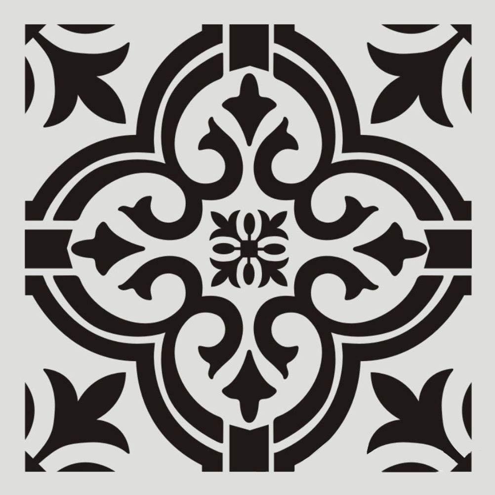 Wall or Floor Tile Stencil Designs Mexican Tile Stencil Set for Making Mosaic Tile Stencil Patterns Pack of Four 8x8 Tile Stencil Designs for Painting