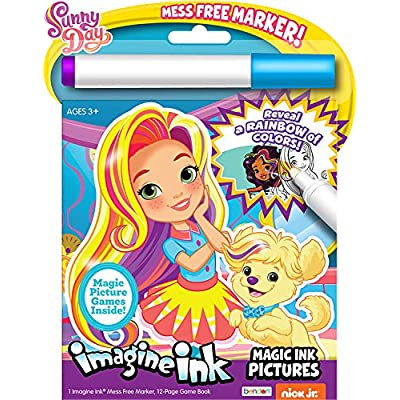 Disney Magic Ink Coloring Book Set for Girls Toddlers Kids -- Bundle of 3 Imagine Ink Books Featuring Junior Vampirina, Puppy Dog Pals, and Sunny Day with Invisible Ink Pens and Owl Stickers: Toys & Games