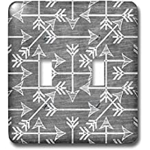 3dRose Anne Marie Baugh - Patterns - Tribal Arrows On A Chalkboard Background - Light Switch Covers - double toggle switch (lsp_263614_2)