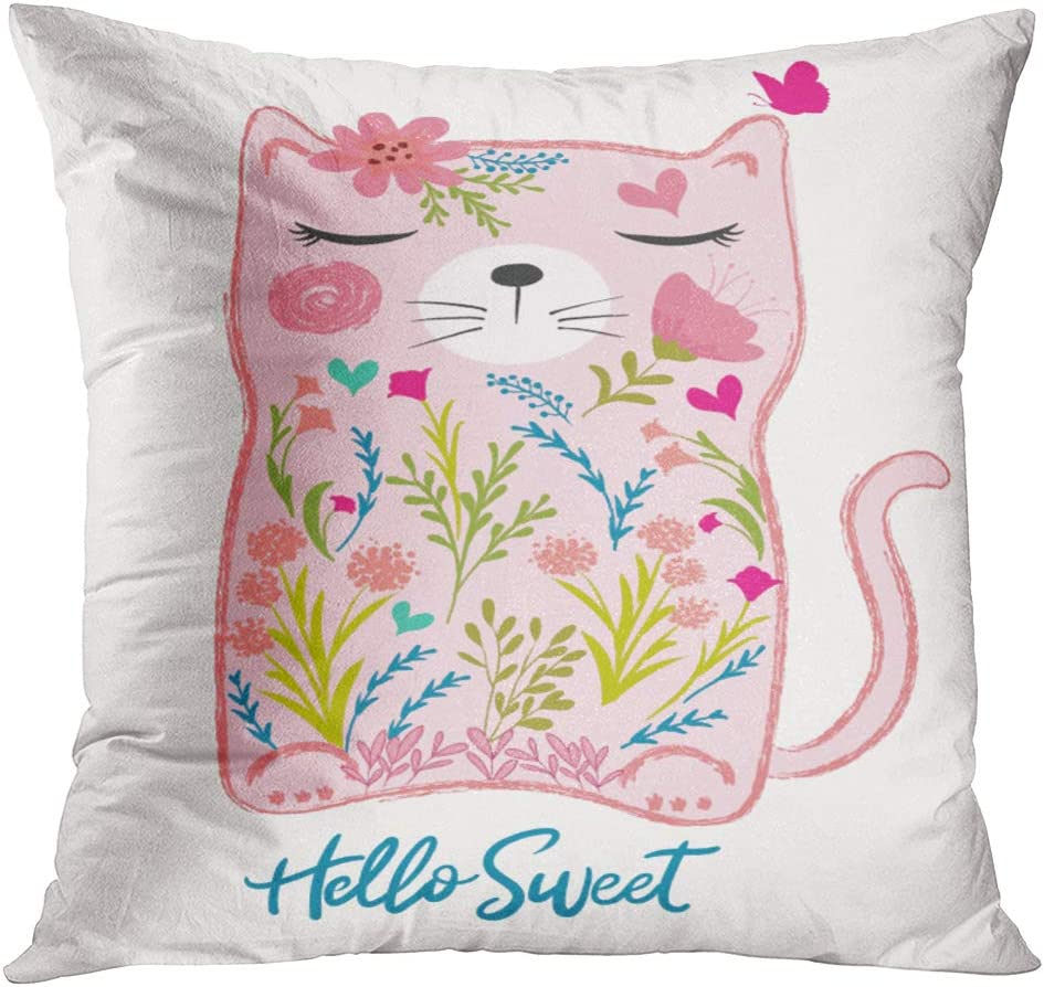 TOMKEYS Throw Pillow Cover Pink