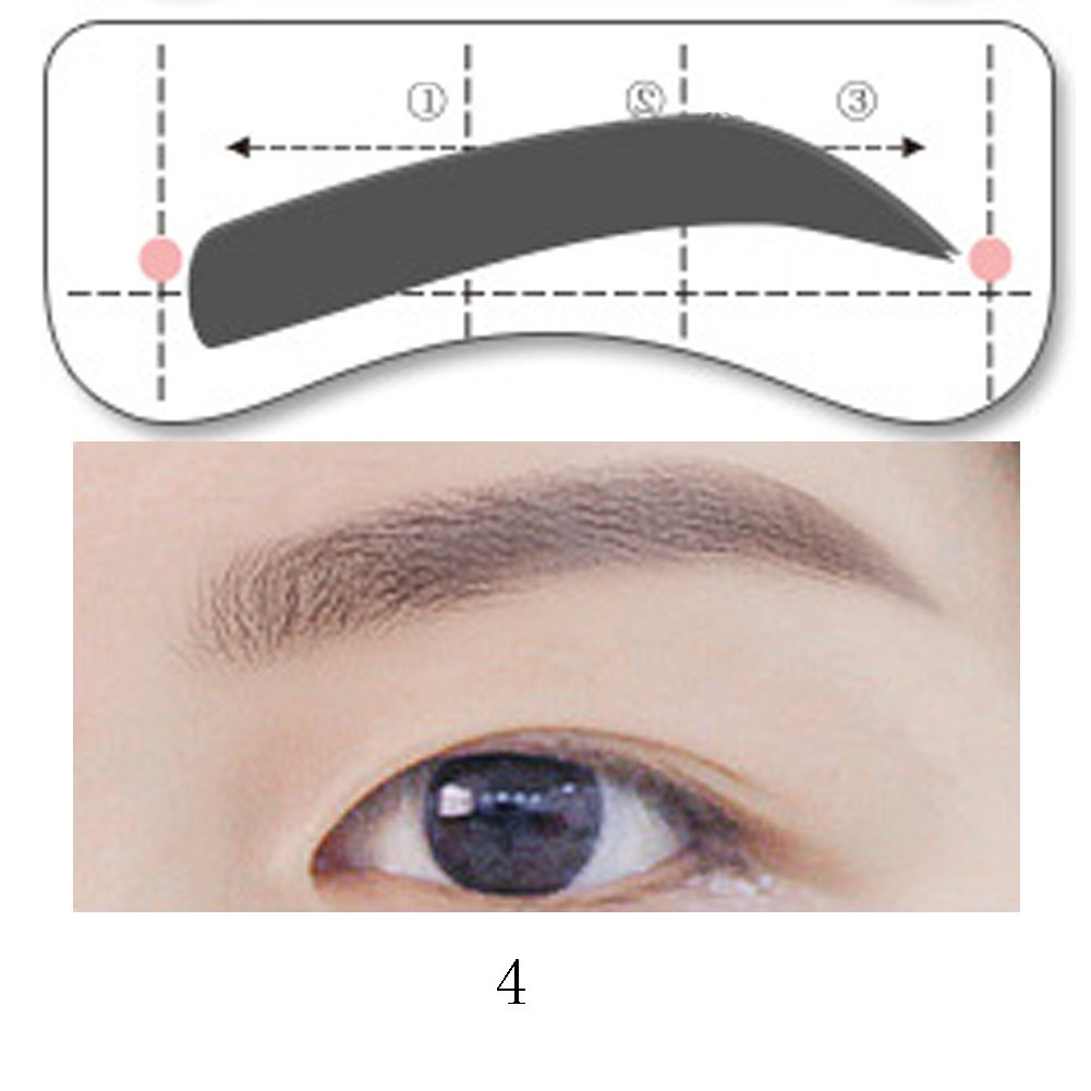 image regarding Eyebrow Shapes Stencils Printable called HuangHM 32Pairs 8Option Stencil Features Handsfree