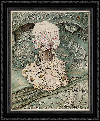 - Lady Mouse in Mob Cap 20x24 Black Ornate Wood Framed Canvas Art by Potter, Beatrix
