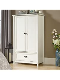 Sauder County Line Armoire In Soft White