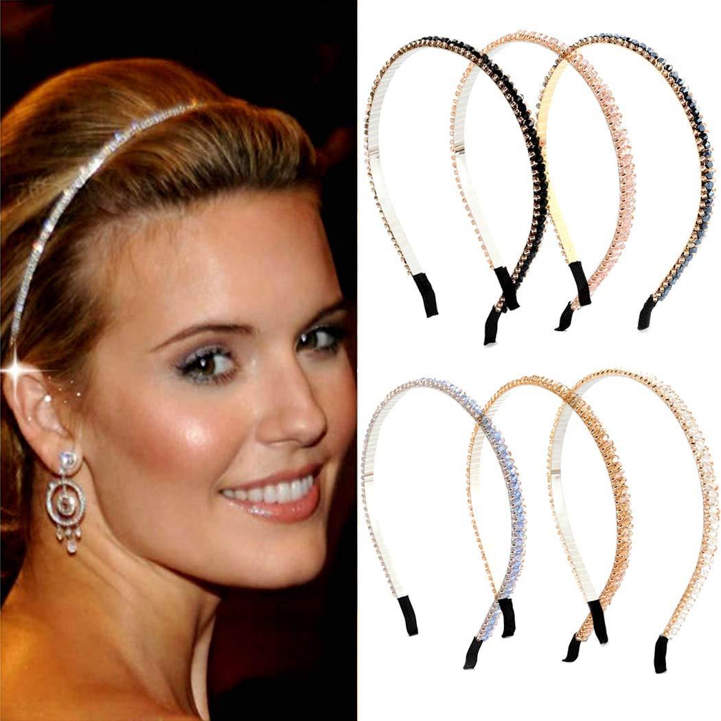Details about  /Women Crystal Headband Hairband Diamond Twist Knot Hair Band Hoop Fashion New US