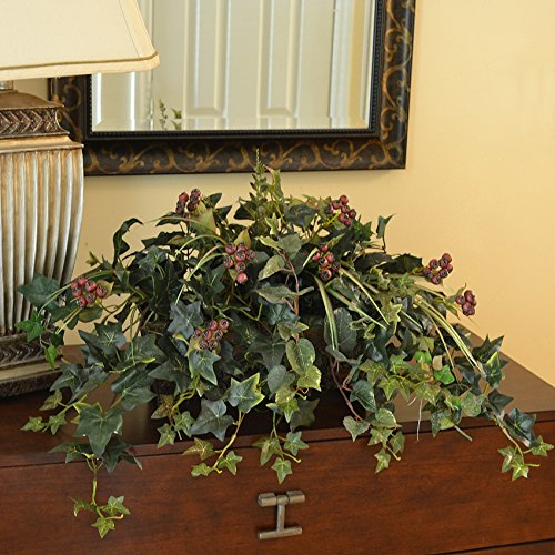Mixed Ivy and Berry Silk Ledge Plant