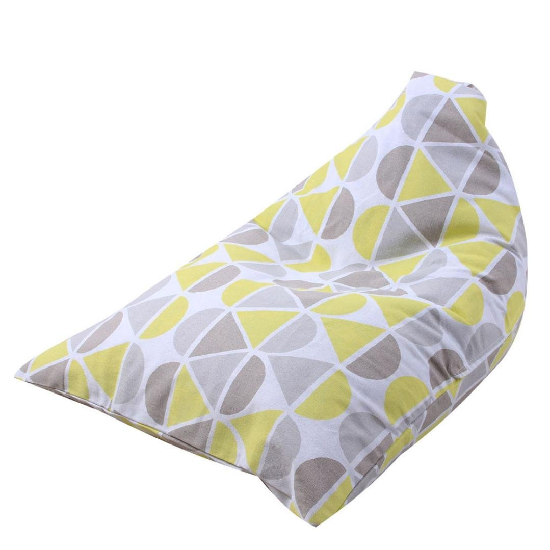 HUHU833 Kids Stuffed Animal Plush Toy Storage Bean Bag Soft Pouch Stripe Fabric Chair (A)