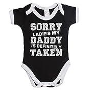 Sorry ladies my daddy is definitely taken funny baby boy/girl babygrow vest ~