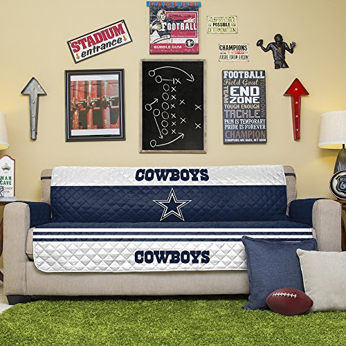 - NFL Dallas Cowboys Sofa Couch Reversible Furniture Protector with Elastic Straps, 75-inches by 110-inches