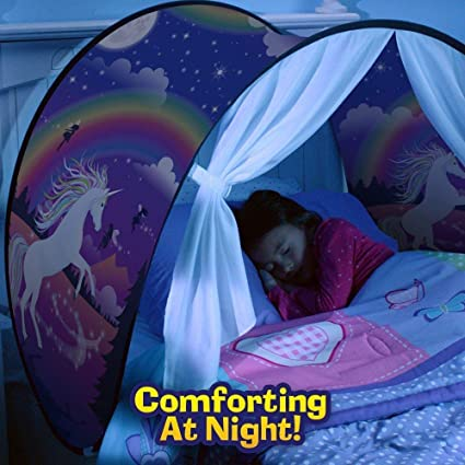 new concept 4c9d4 52d4b Tent Kids Play Bedroom Decoration Childs Bed Birthday Gifts (magical  Unicorn Fantasy)