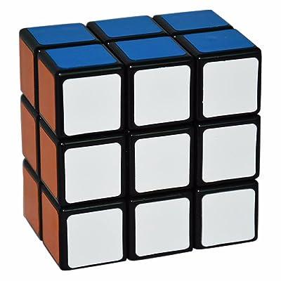 2x3x3 Puzzle Cube Coolzon® Spécial Cubo Jouet de Vitesse Version Autocollant de PVC 57mm, Noir
