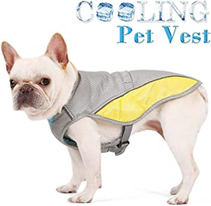 Vsing Dog Cooling Vest - Breathable Dog Cooler Jacket with Adjustable Harness Straps and Leash Hole for Small and Medium Dogs to Stay Cool in Hot Summer