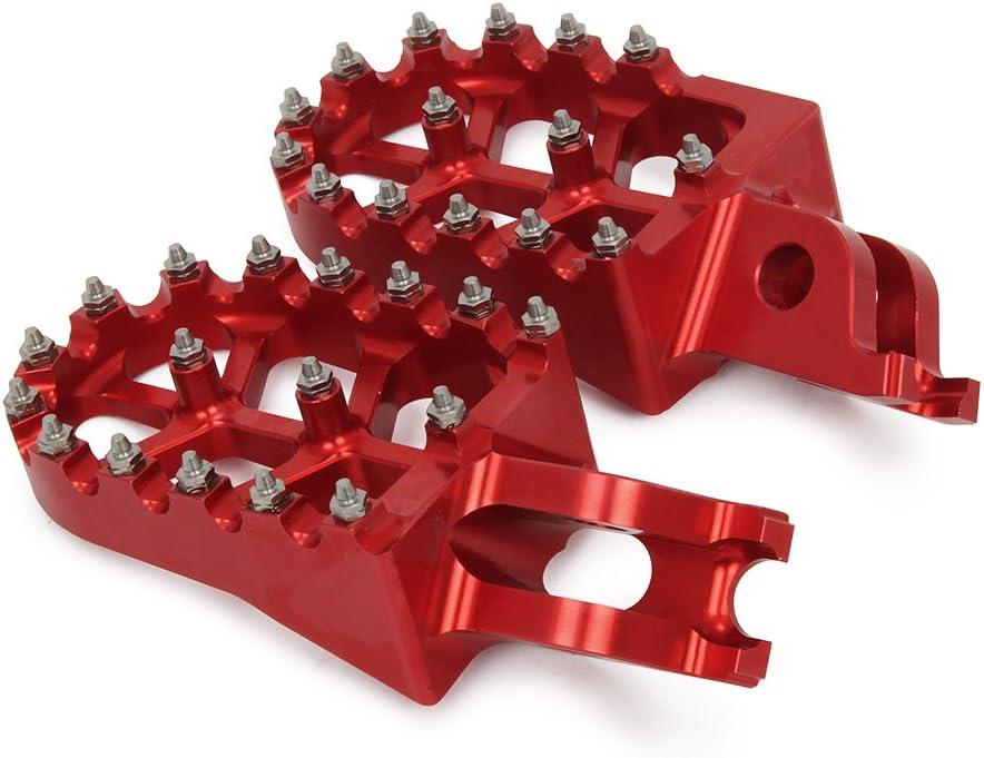 Rot Motorrad Billet hohe Qualit/ät Haifischzahn Fu/ßrasten Pedale ruht f/ür Honda R125//250R 02-07 CRF150R CRF450RX 17-18 CRF250R CRF250X 04-17 CRF450R 02-18 CRF450X 05-17 CRF250L//M 12-17 CRF250RALLY 17