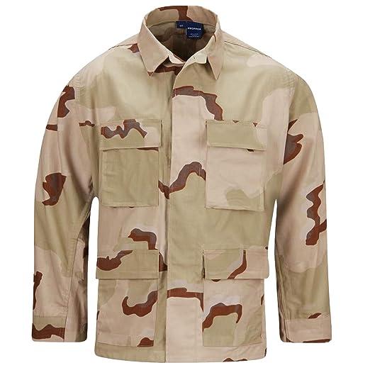 1ad739a961dc7 Amazon.com: Propper Cotton Ripstop BDU Coat 3 Color Desert Camo SR ...