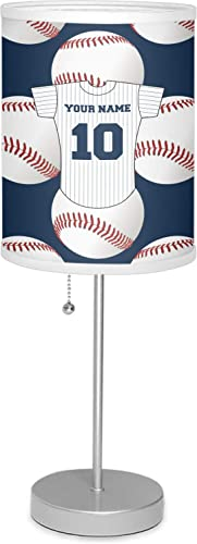 RNK Shops Baseball Jersey 7 Drum Lamp with Shade Linen Personalized