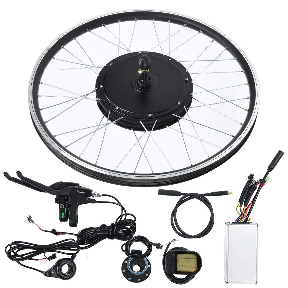 Ebike Conversion Kit, 20inch Wheel 48V 1000W Electric Battery Powered Bicycle Motor Conversion Kit Electric KT-LCD5 Display Instrument Wheel E-Bike Motor Kit Bike Accessories Set(Cassette flywheel) by Sorand