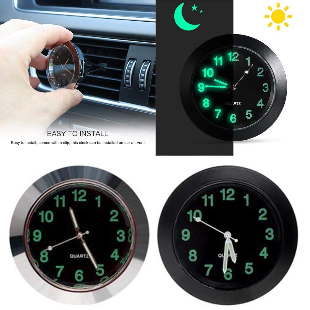 Zippem Car Thermometer Clock Car Electronic Watch Quartz High and Low Temperature Clock
