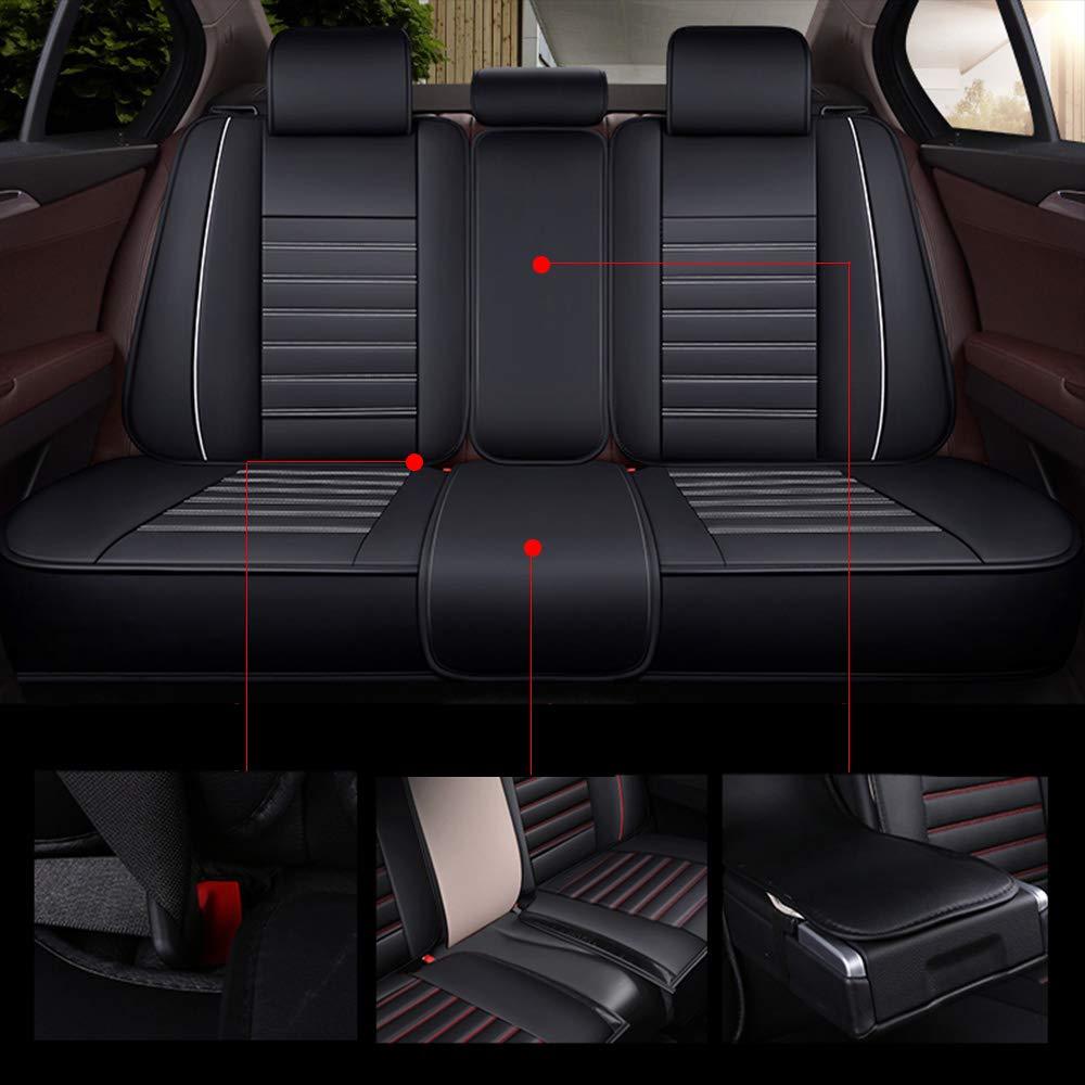 Housses de si/ège Auto pour Voiture 5 Places Pick Up SUV Truck en Simili Cuir