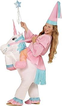 NET TOYS Disfraz Unicornio Hinchable Traje Caballo niño Inflable Atuendo corcel Infantil Vestido Elfo niña Disfraces Hada Chica Ropa Cuento