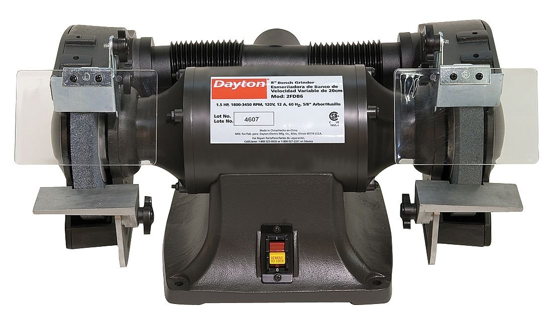DAYTON Bench Grinder 10 in 1 HP 120V 10 A