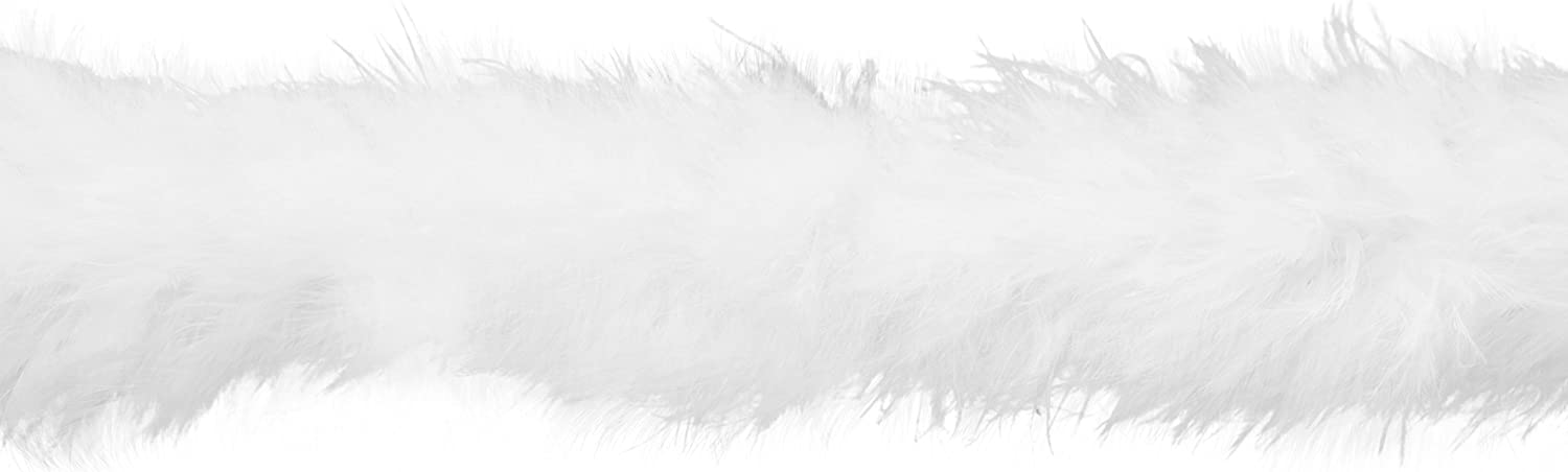 1-1//2-Inch by 10-Yard Wrights Feather Boa White