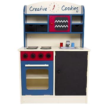 Cocina Infantil de Madera | An/Alt/P: Aprox. 60/90/30 cm, Cocina ...