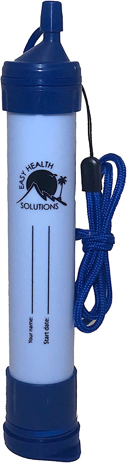 EHS Water Filter Straw Portable Personal Emergency Filtration Purifier for Camping, Hiking, Survival
