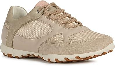 Geox Femme Chaussures de Ville à Lacets D Freccia, Dame Chaussures de Sport