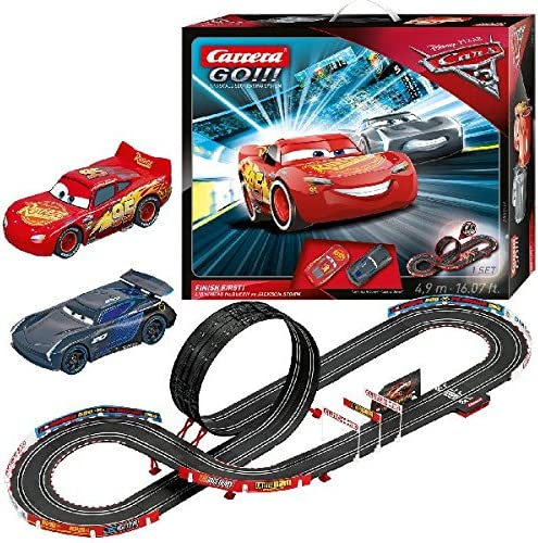 Carrera Go 62418 Disney Pixar Cars 3 Finish First Set Amazon Co Uk Toys Games
