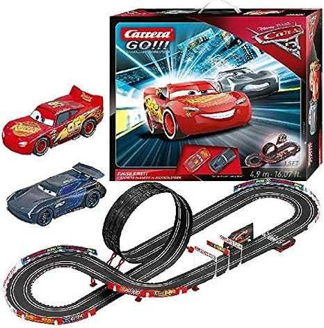 Carrera 62418 Go Disney Pixar Cars 3 Finish First Slot Car Race Set Amazon Ca Toys Games